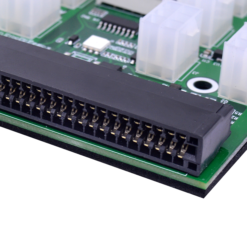 CHIPAL Power Module Breakout Board for HP 750W 1200W PSU Server Power Conversion +17pcs 12pcs 6Pin to 8Pin Power Cable for BTC-3