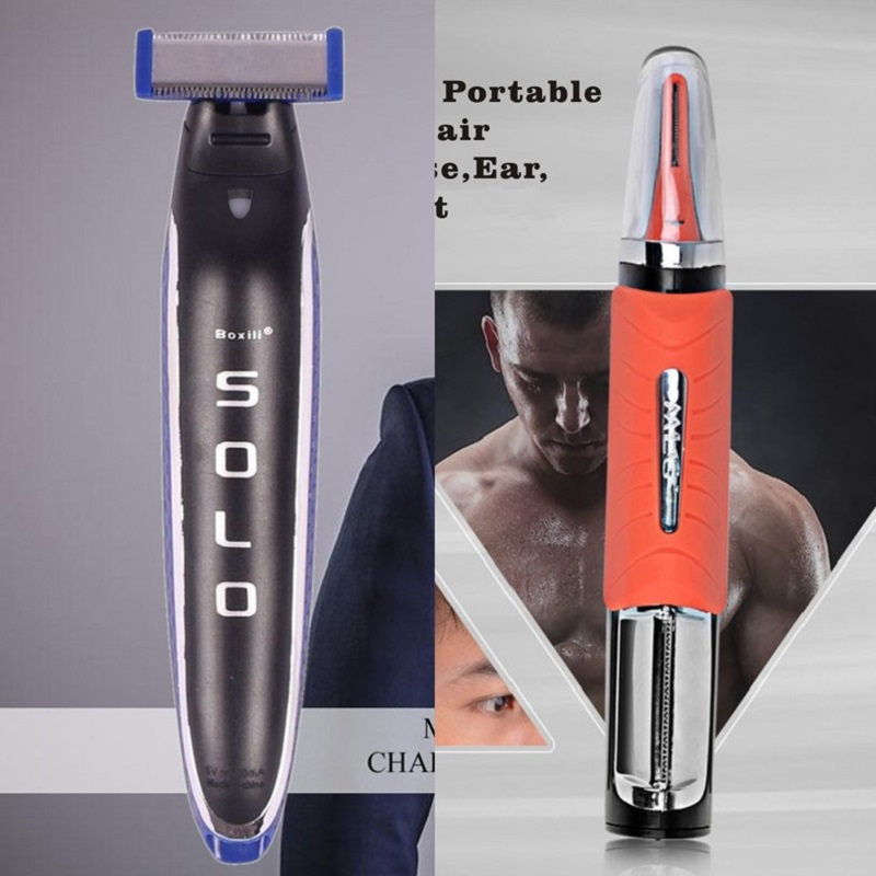 AirGTC SOLO Man Electric Shaver Nose Hair Trimmer Multi Function Rechargeable Clipper Shaving Razor Nasal Removal Dropshipping