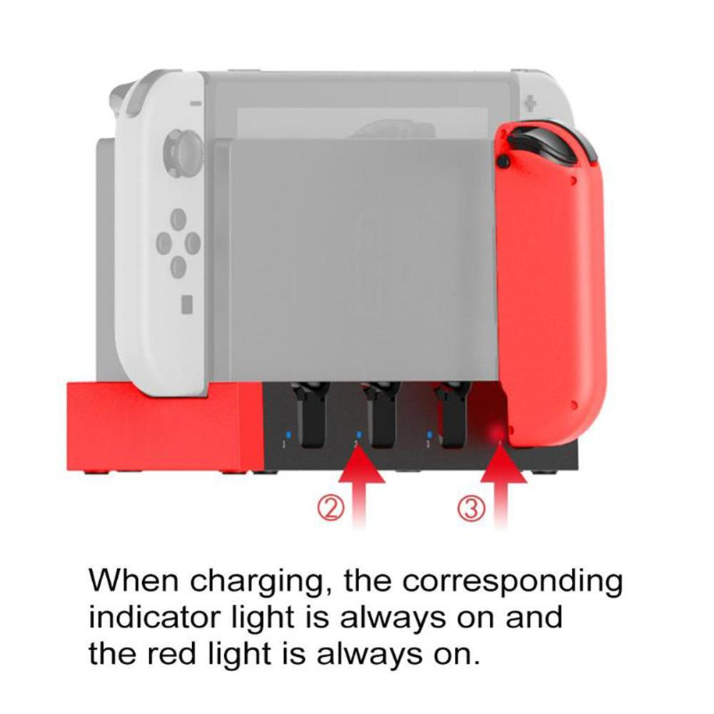 4-Slot Portable Controller Charger Charging Dock Stand Station Holder For Nintendo Switch Joy-Con Game Console ABS USB2.0