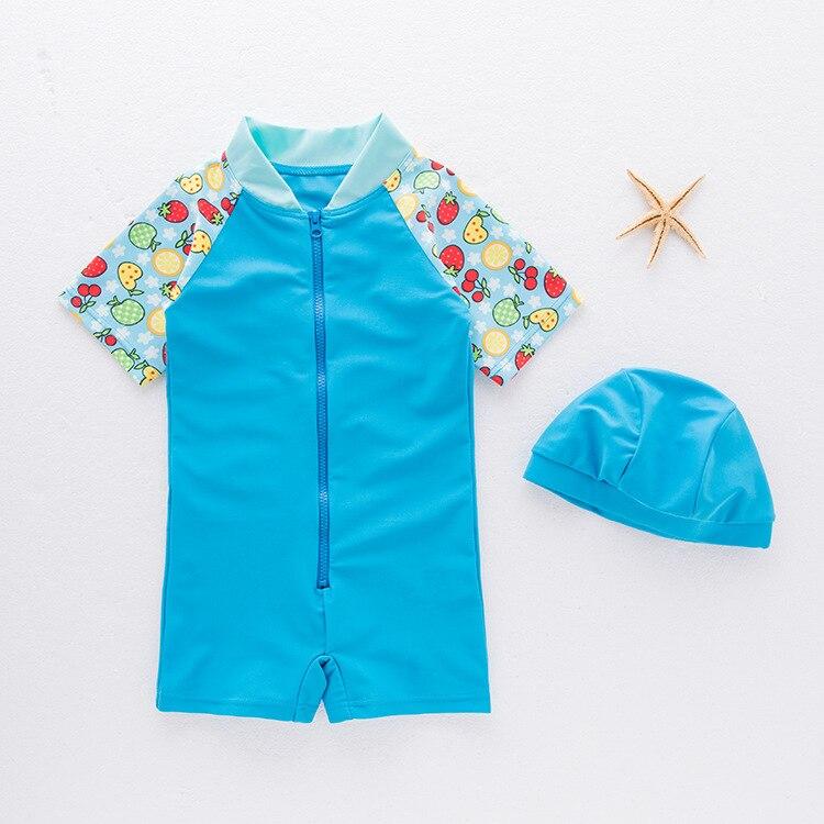 Girl'S Swimsuit One-piece Swimming Suit Children Hot Springs Tour Bathing Suit Sun-resistant Quick Service