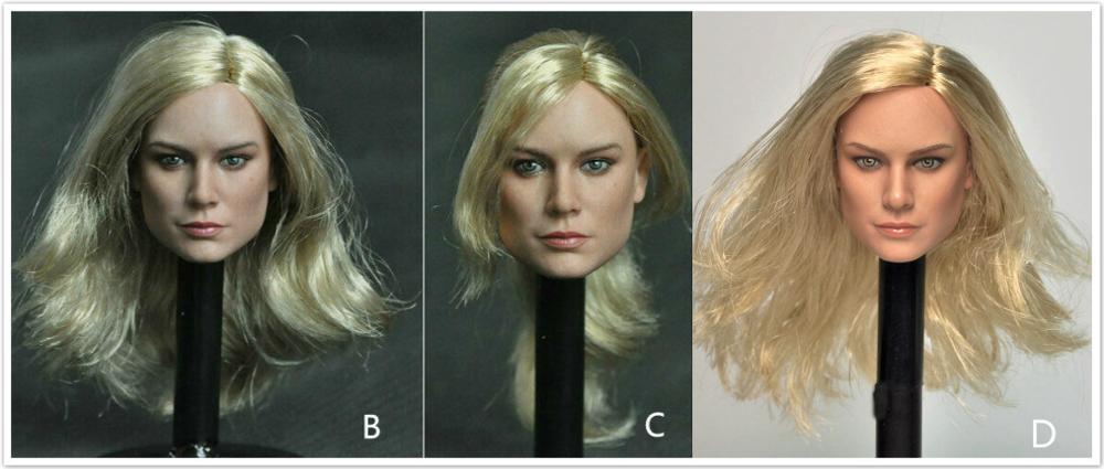 Manco toys 1/6 scale Blond Female Head Sculpt Brie Larson Captain Marvel