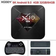 XGODY 2019 X10 Plus 6K Android 9.0 Smart TV Box Allwinner H6