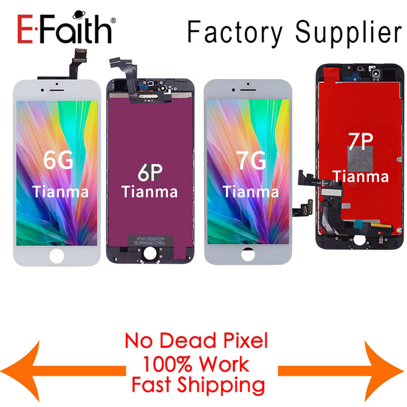 Tianma quality 5PCS LOT For iPhone 6 6 Plus 7G 7 Plus LCD NO Dead Pixel