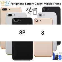 Voor iphone 8 8G 8 Plus Nieuwe Terug Midden Frame Chassis Volledige Behuizing Vergadering Battery Cover Voor iphone 8 terug Behuizing