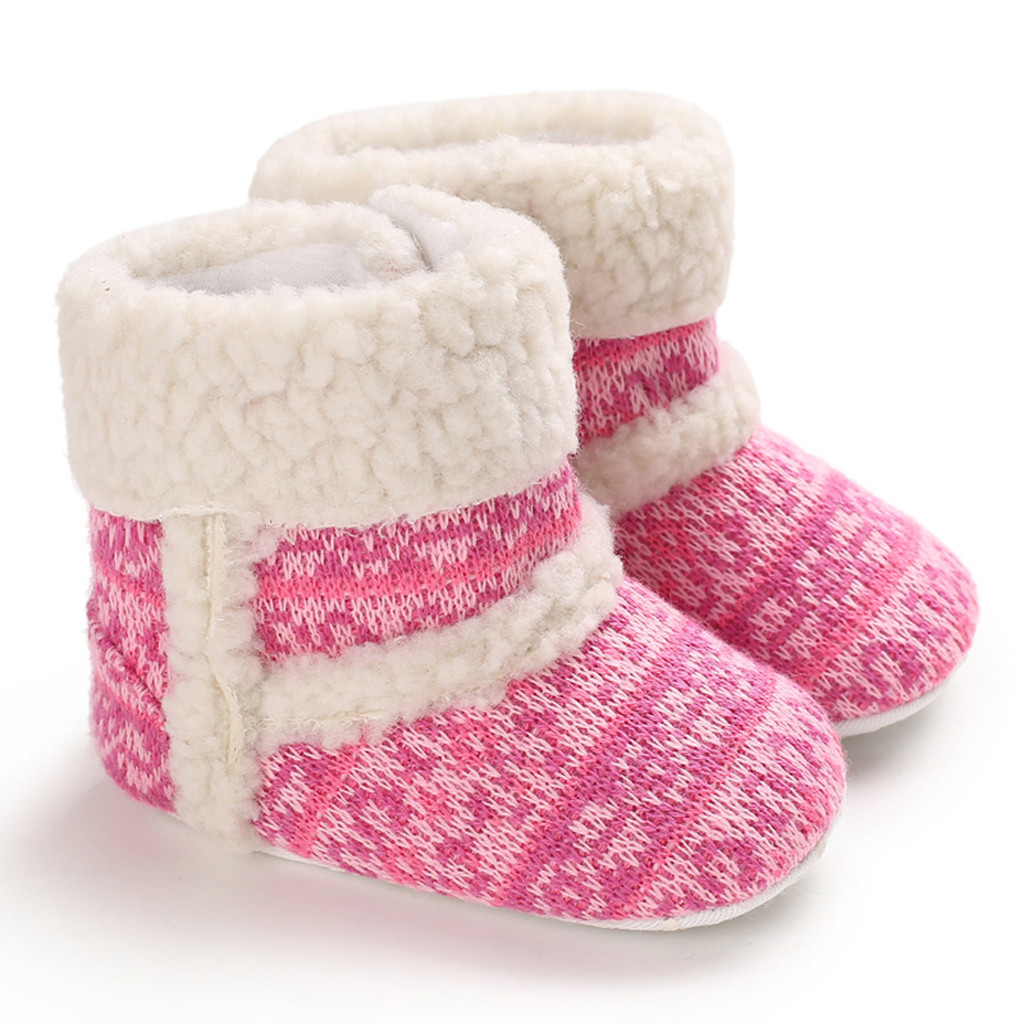 Winter Children Kids Baby Girls Candy Color Warm Short Boots Snow Bootie Shoes