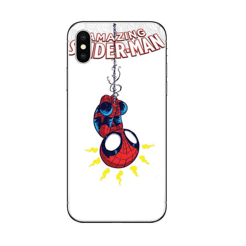 Spideman Deadpool الأعجوبة أغطية الهاتف مهرج يونيكورن غطاء من السيليكون ل أبل فون 8 7 6 6S زائد 5 5S SE X XR XS ماكس حالات كوكه