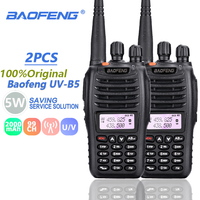 vhf uhf 2pcs Baofeng UVB5 מכשיר הקשר VHF 136-174MHz UHF 400-480MHz משדר UV B5 HF משדר UVB5 Woki טוקי Ham Radio Station (1)