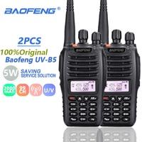 baofeng uv 2pcs Baofeng UVB5 מכשיר הקשר VHF 136-174MHz UHF 400-480MHz משדר UV B5 HF משדר UVB5 Woki טוקי Ham Radio Station (1)