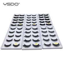 YSDO 50 กล่องขนตา mink eyelash strip 3d ขนตาปลอมขนตาแต่งหน้า 3d mink lashes 250 คู่ eyelashes extension ขายส่ง