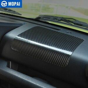 Image 5 - Mopai centro de fibra carbono copiloto carro painel controle decoração adesivos para suzuki jimny 2019 + acessórios interiores