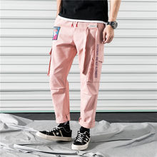 2020 Pockets Cargo Harem Pants Mens Casual Joggers Baggy RIbbon Tactical Trousers Harajuku Streetwear Hip Hop Pants Men(China)