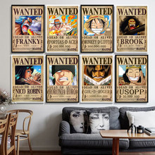 One Piece Wanted posters Anime posters Luffy Chopper Wanted Print canvas Cartoon Painting Home Decoration
