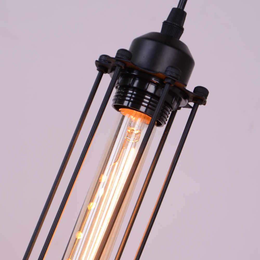 Современные скандинавские подвесные светильники железная винтажная Лофт клетка Пирамида подвеска лампа металлическая Подвесная лампа гостиная помещение освещение для гостиной