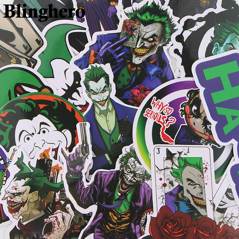 CA404 19pcs/set The Joker Halloween Stickers Laptop Skateboard Luggage Car Styling Bicycle Graffiti Decals Waterproof Sticker