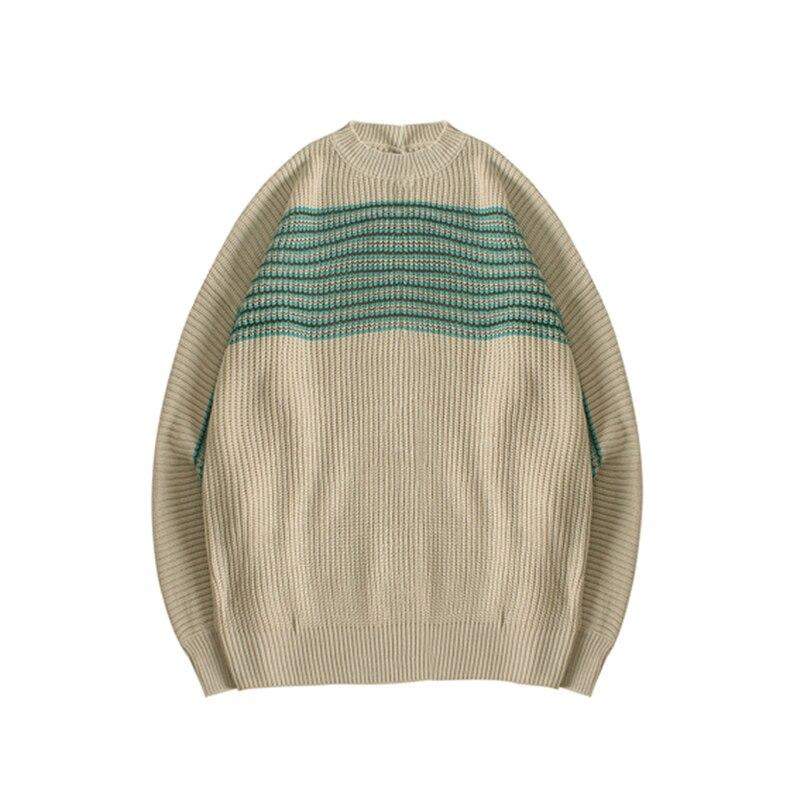 High End Men's Jacquard Letter Knitted Dropped Shoulder Sweater For Men