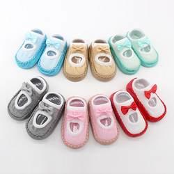 Обувь для новорожденных мальчиков и девочек, детские Нескользящие Носки с рисунком для новорожденных девочек и мальчиков, тапочки