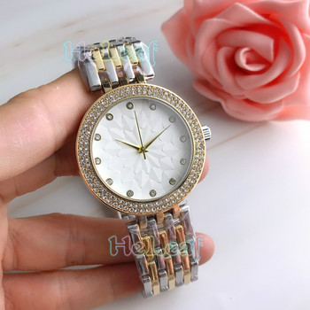 Fashion brand Women Watches Silver Gold Round Stainless Steel sun flower pattern Quartz Watch Female diamond Clock reloj mujer zhou lianfa fashion network world map lychee pattern gold quartz watch