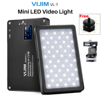 VIJIM VL 1 Mini LED Video Light Magnetic Dimmable Photography Lighting On Camera 96 LEDs Lamp W Cold Shoe High CRI96