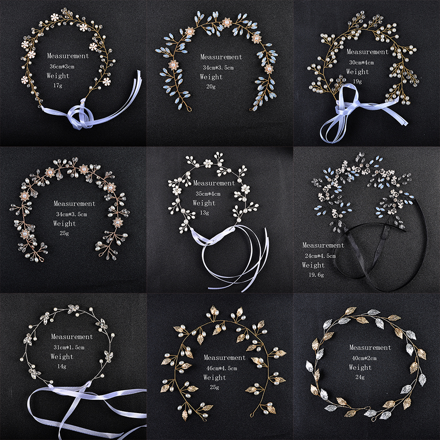 New Manual Women Hairbands Pearl Crystal Wedding Fashion Hair Jewelry Accessories Black/Silver/Gold Color Bridal Headbands Hair Jewelry    - AliExpress