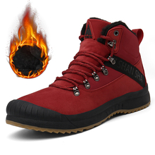Winter Boots Men Safety Shoes Army Military Boots Warm Plush Men Shoes