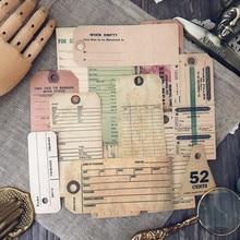 13 sztuk/worek Vintage Old English etykieta biletów naklejki wyroby Scrapbooking DIY Album Junk Journal Planner dekoracyjne naklejki