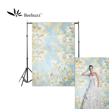 Beebuzz photo backdrop fresh white flowers background the hand-painted design style of flower ornament photophone