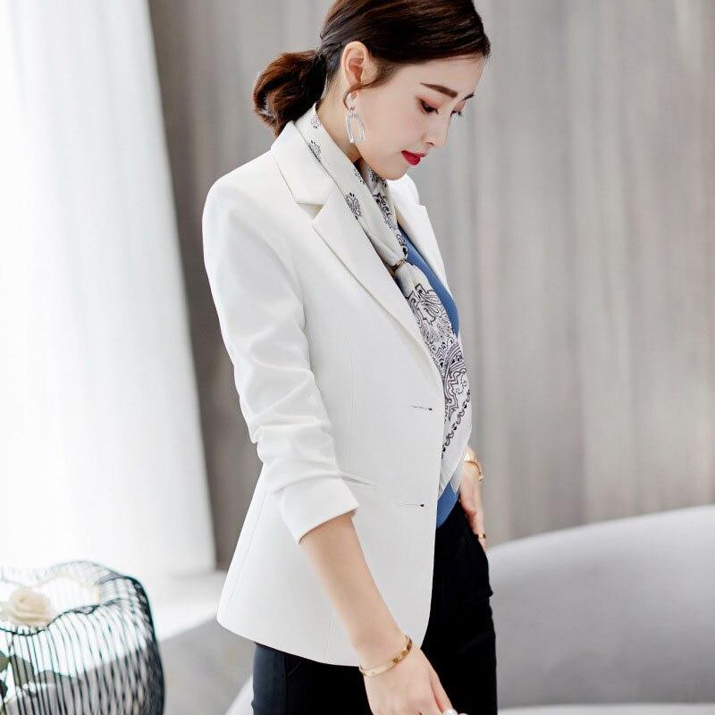 2020 spring new slim long-sleeved blazer female casual wild black short suit