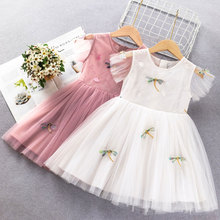 Girls Dress 2020 New Summer Brand Girls Clothes Lace And Ball Design Kids Princess Dress Party Dress 3-7 Years Chinese style new lace girls dress retro embroidery long sleeve christmas clothes girls party dress teenagers princess dress 3 13 years ca341