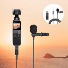 3.5mm adaptador para dji osmo bolso mini clipe de lapela microfone microfone microfone adaptador de áudio para osmo ação câmera extensão acessórios
