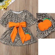 Wholesale/retail pumpkin dress baby girls fashion boutique strap sleeveless dresses kids summer halloween children's clothing 5p202 5 5pcs lot baby girls dress 2017 new wedding dresses girl summer lace wholesale baby boutique clothing
