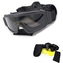 Tactical Sunglasses Men Military Shooting Glasses 3 Lens Arm