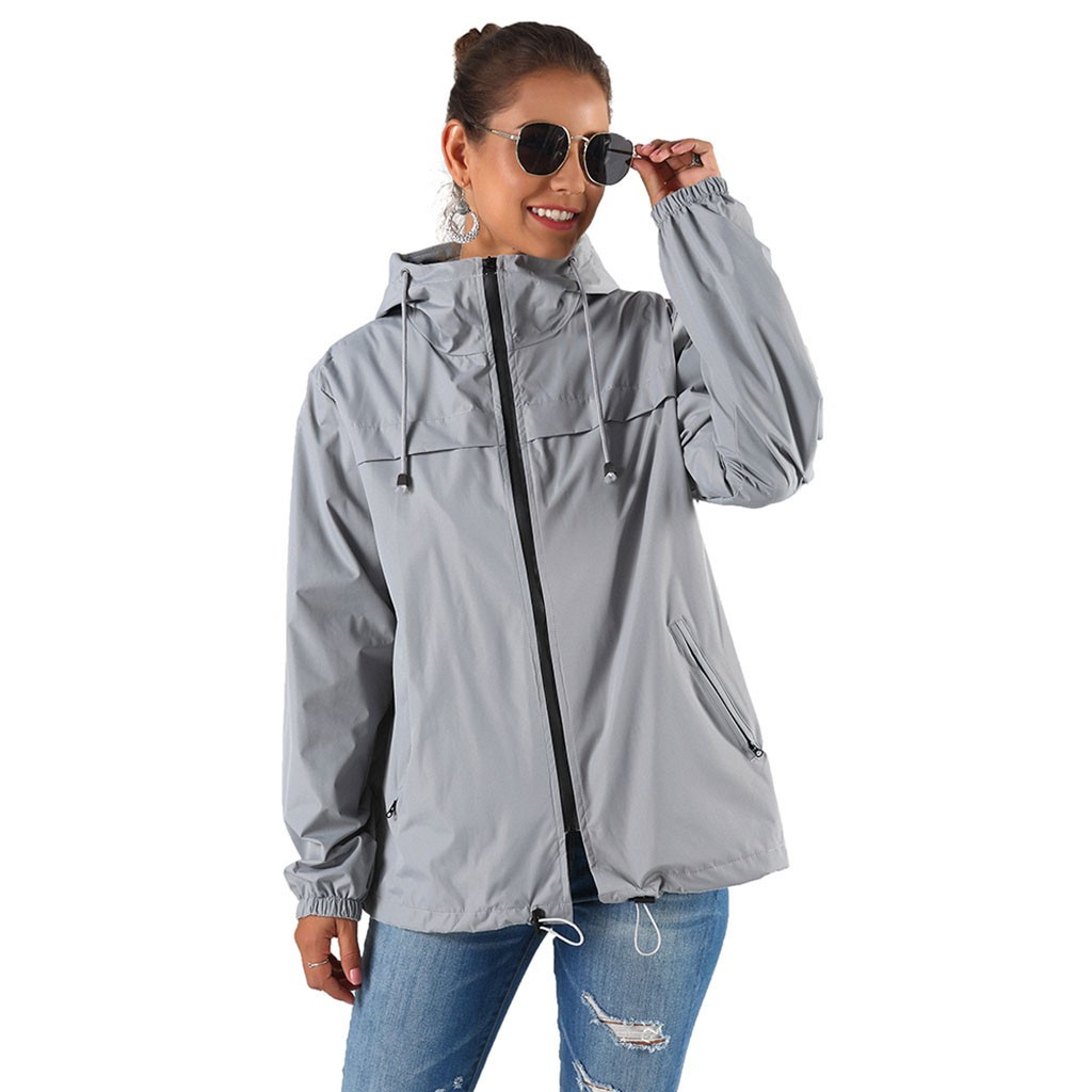 Women's Casual Jacket Hooded Coat Spring Autumn Solid