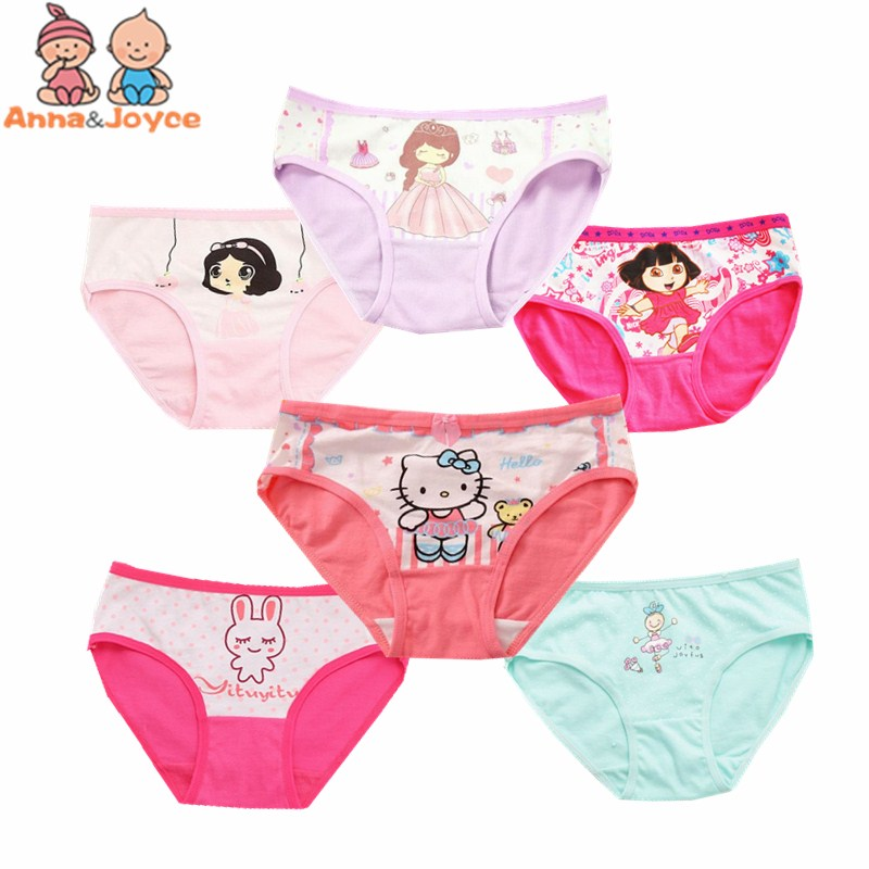 4pcs/lot Cartoon  Panties Cotton Short Pants Cartoon Panties Girls' Underwear  Suit2-years