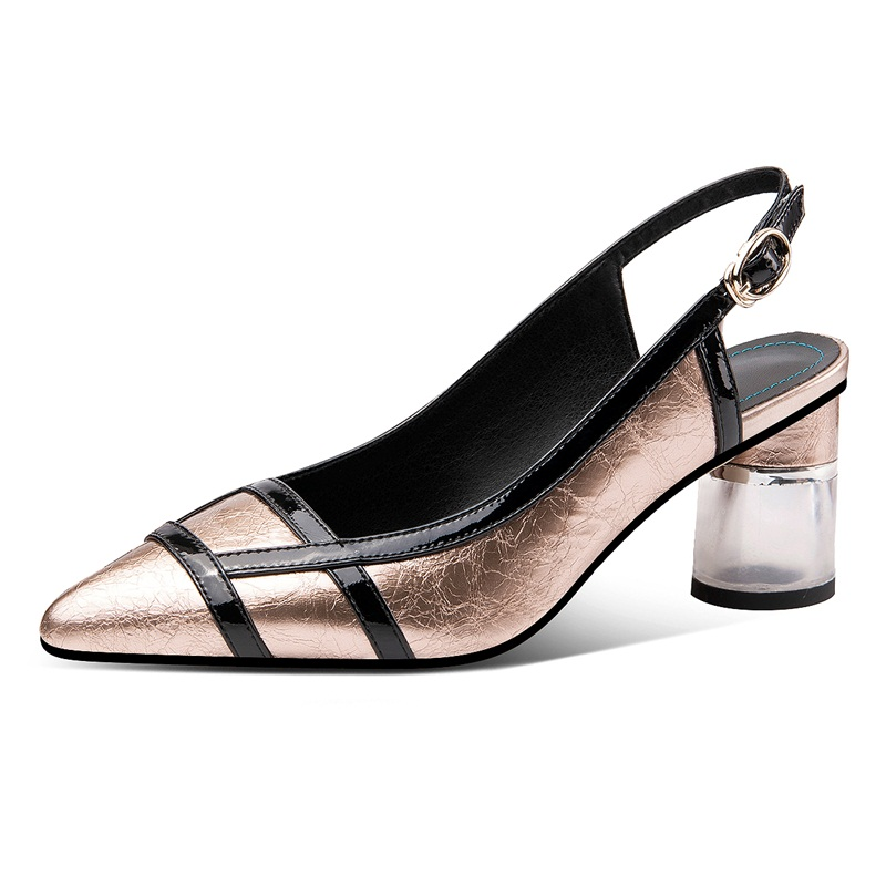 new brand spring summer women shoes genuine leather sexy high heels pointed toe silver dress party wedding shoes pumps size 42