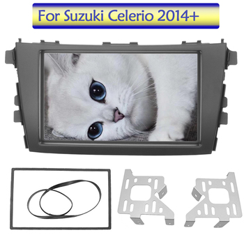 2 Din Radio Fascia For SUZUKI CELERIO 2014~2015 DVD Player Adapter Panel Frame Dash GPS Nevigation installation Double Din Frame image