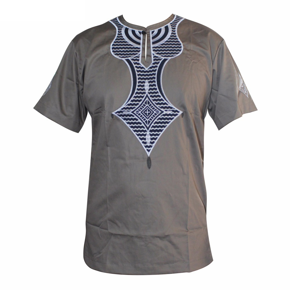 Dashiki High Quality New Design Embroidered African Muslim T-Shirts Ankara African Clothings мусульманская одежда для мужчин