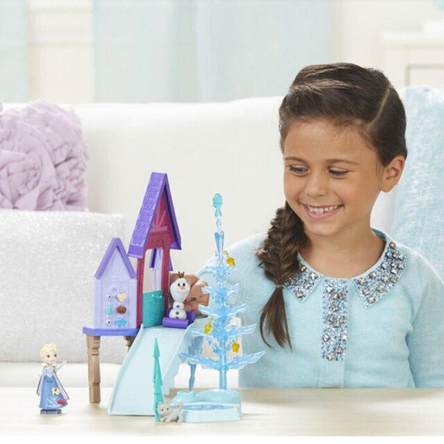 Hasbro Frozen Elsa Holiday Surprise Series Snow Scene Dream Castle Birthday Gift Toys for Girls C1919 3