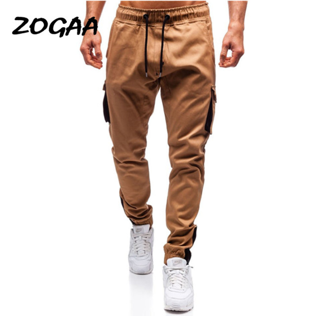 ZOGAA 2020 Summer New Men's Casual Camouflage Woven  Explosive Multi-pocket Overalls Sports Pants