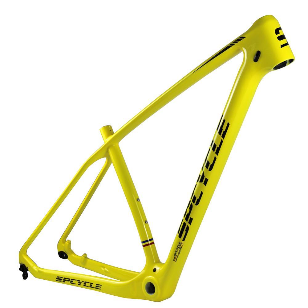 Spcycle T1000 Full Carbon MTB Frame 29er 27.5er Carbon Mountain Bike Frames Compatible 142*12mm  Or 135*9mm BSA 73mm 15/17/19