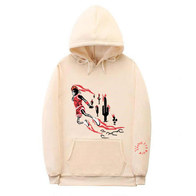19ss travis scotts hoodies 남성 여성 jordan x travis scotts 까마귀 스웨터 코튼 스와그 프린트 선인장 잭 후드 티 후디