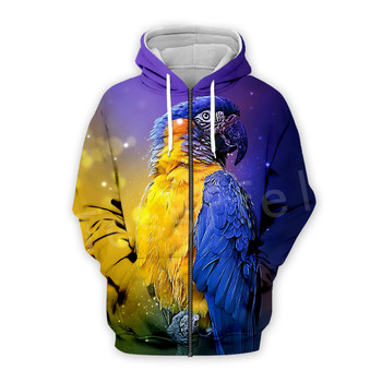 Tessffel Animal Parrot Unisex Colorful Funny NewFashion Tracksuit Harajuku 3DPrint Zipper/Hoodies/Sweatshirt/Jacket/Men/Women s7 2