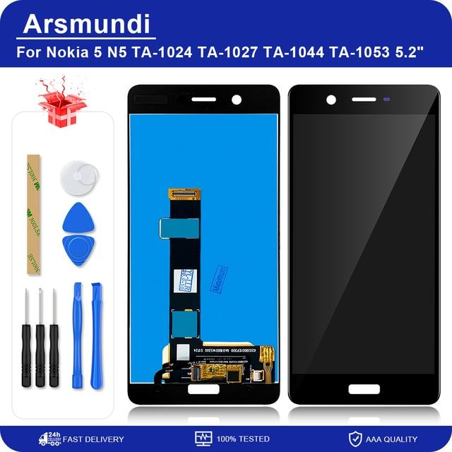 """노키아 5 N5 TA 1024 TA 1027 TA 1044 TA 1053 5.2 """"LCD 디스플레이 터치 스크린 디지타이저 어셈블리 Nokia5 교체 LCDs"""