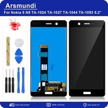"""עבור Nokia 5 N5 TA 1024 TA 1027 TA 1044 TA 1053 5.2 """"LCD תצוגה מסך מגע Digitizer עצרת עבור Nokia5 החלפת צגי Lcd"""