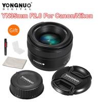 YONGNUO YN35mm F2 Lens Camera Lens for Nikon Canon EOS YN35mm Lenses AF MF Wide Angle Lens for 600D 60D 5DII 5D 500D 400D 650D