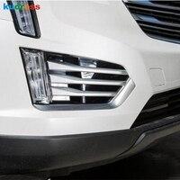 Para Cadillac XT5 2016 2017 Nova Frente Chrome Fog Tampa Da Lâmpada Luz Guarnição Luz de Nevoeiro Frame Da Lâmpada de Substituição Acessório do Automóvel 6pcs