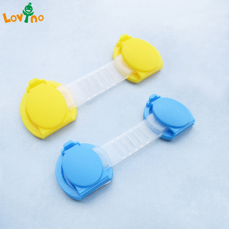 6pcs/lot Baby Safety Child Lock Refrigerator Drawer For Cabinets Locker Sliding Door Fridge Protection Of Children Locking Doors
