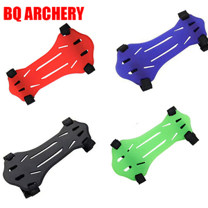 Soft Rubber 2 Strap Shooting Target Forearm Protector Bow Archery Arrow Armguards Archery Arm Guard Protection Safe Strap