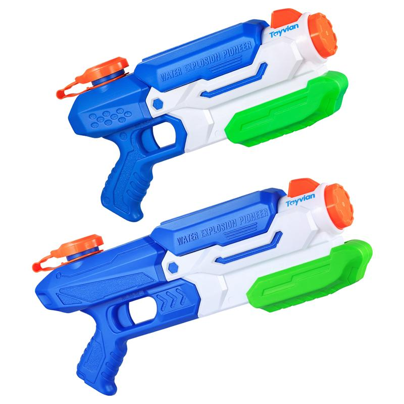 Toyvian 2pcs Water Guns Shooter Toy Summer Swimming Pool Beach Toy For Children Kids Beaches And Swimming Pools With Your Friend