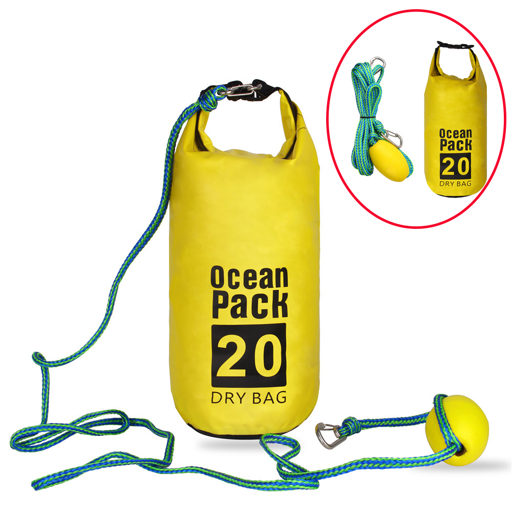 Dock Line With Ocean Pack 2-in-1 Sand Anchor & Waterproof 20L Dry Bag Dock Rope For Kayak, Jet Ski, Rowing, Small Boats