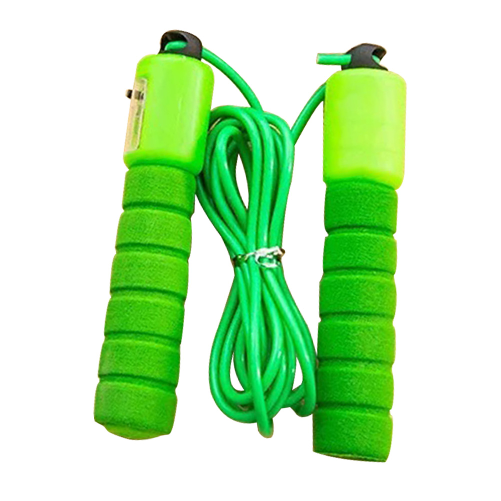Adjustable Sports Supplies -free Exercise With Counter Fitness Bearing Design Skipping Jump Rope Sponge Handle